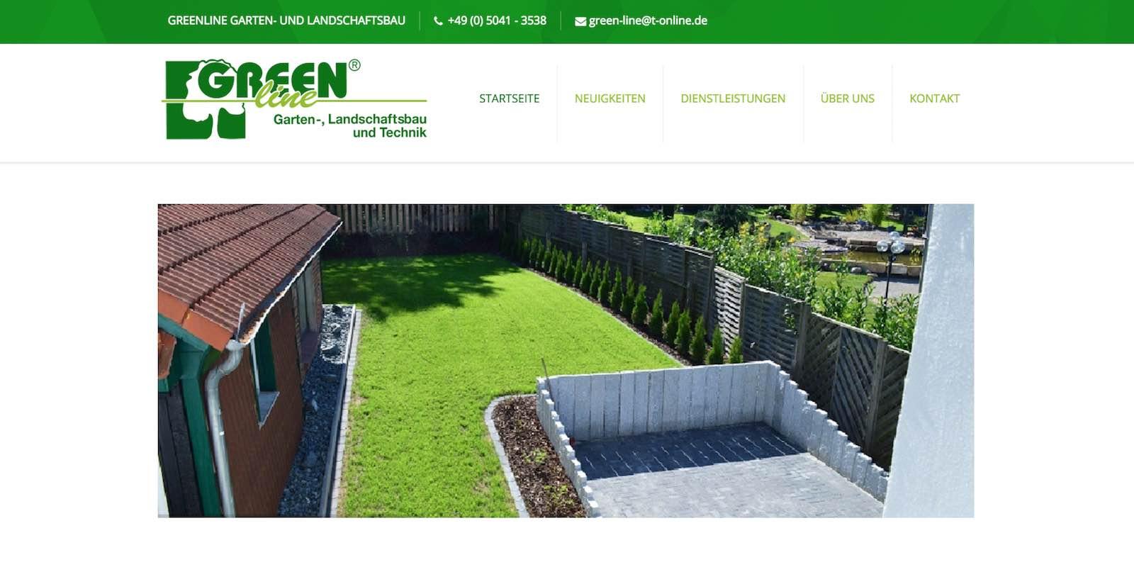Referenz GreenLine Gartenbau Springe